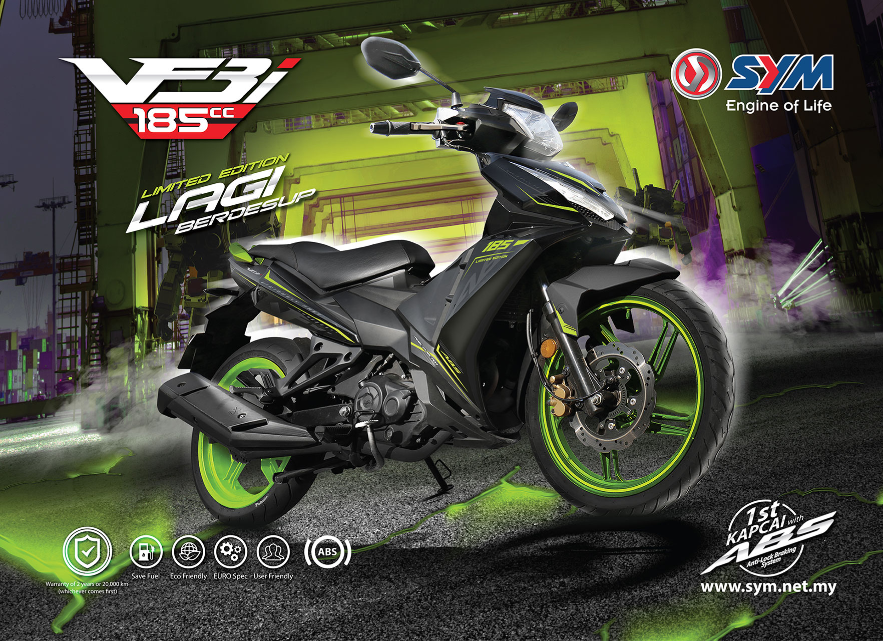PRESS RELEASE - ADDITIONAL 5,000 UNITS - SYM VF3i 185 LIMITED EDITION