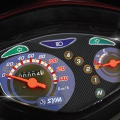Bright & Sporty analog type of speedometer.
